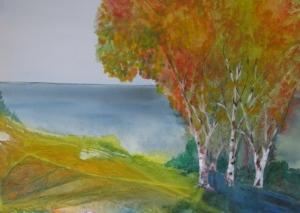 poplars by the sea