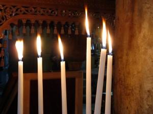 prayer candles, Church of the Nativity, Bethlehem
