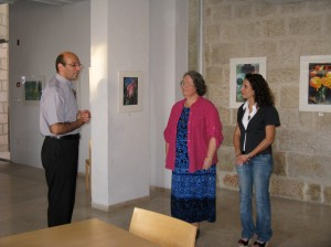 Pastor Mitri, Nancy the curator and Chris at the introduction.