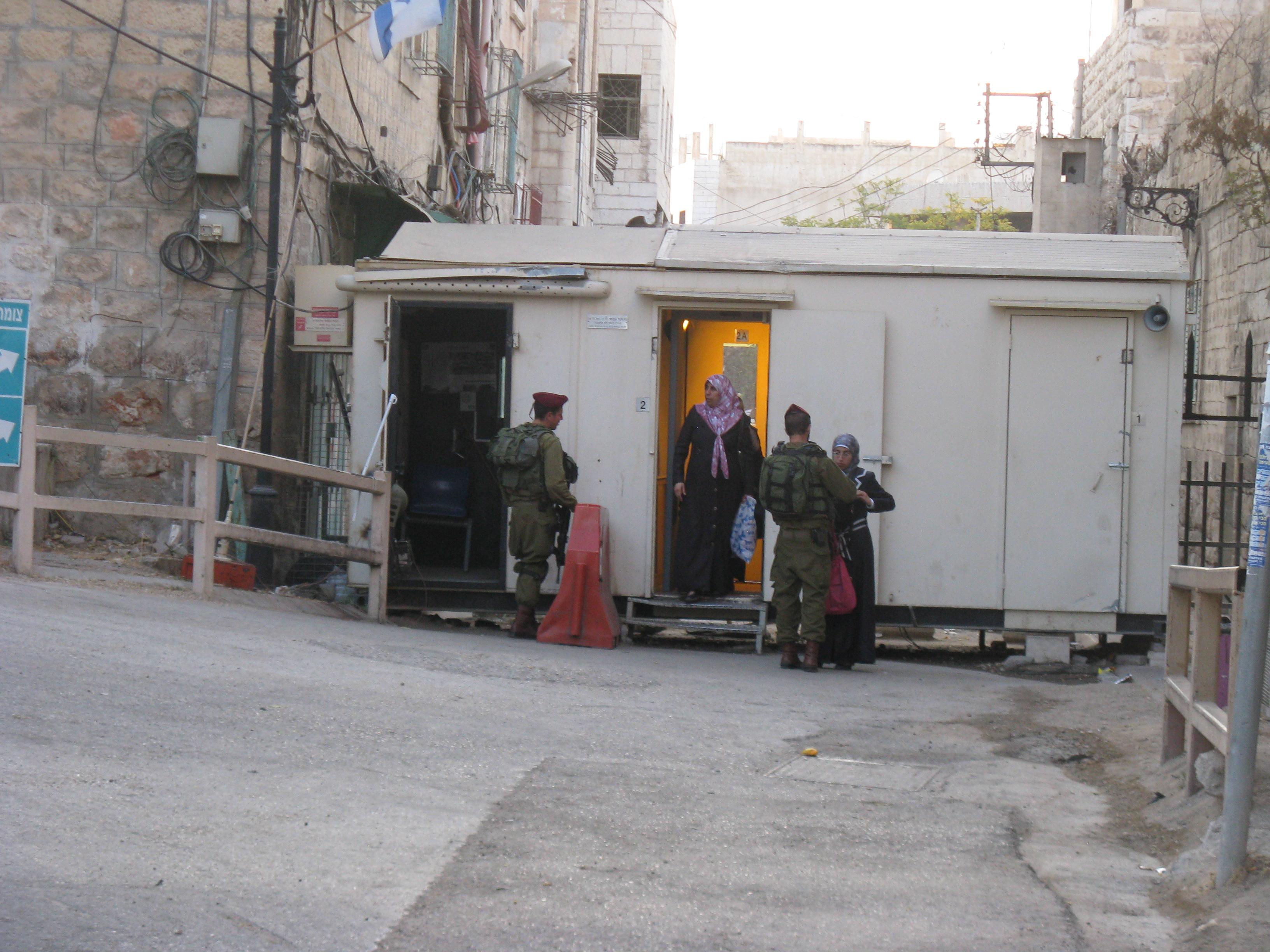 shuhada street checkpoint